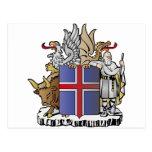 Escudo de armas de Islandia Postal