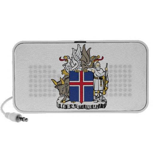 Escudo de armas de Islandia Sistema Altavoz