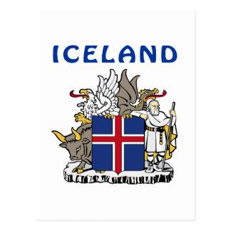 Escudo de armas de Islandia Tarjetas Postales