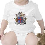 Escudo de armas de Islandia Traje De Bebé
