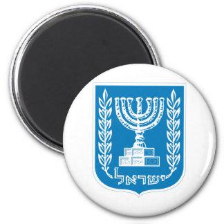 Escudo de armas de Israel - del sello y del escudo Imán Redondo 5 Cm