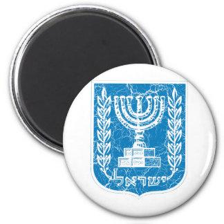 Escudo de armas de Israel Imán Redondo 5 Cm