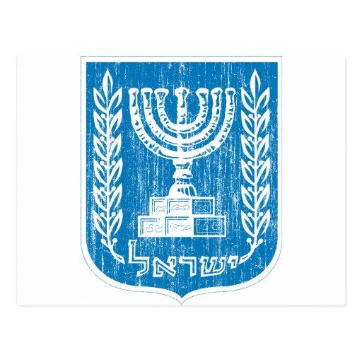 Escudo de armas de Israel Postales