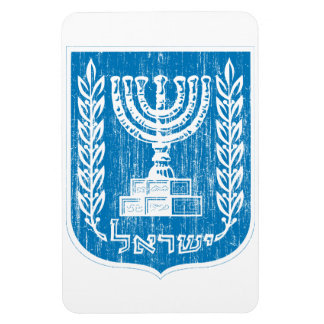 Escudo de armas de Israel Rectangle Magnet