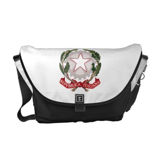 Escudo de armas de Italia Bolsa De Mensajeria