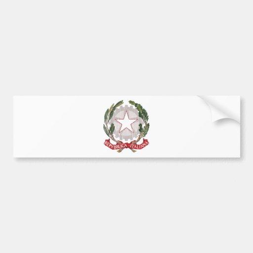 Escudo de armas de Italia Pegatina Para Auto