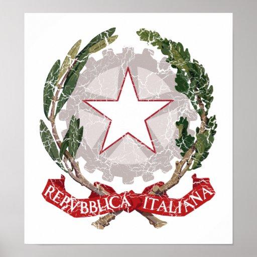 Escudo de armas de Italia Poster