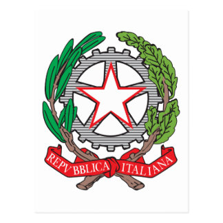 Escudo de armas de Italia Tarjeta Postal