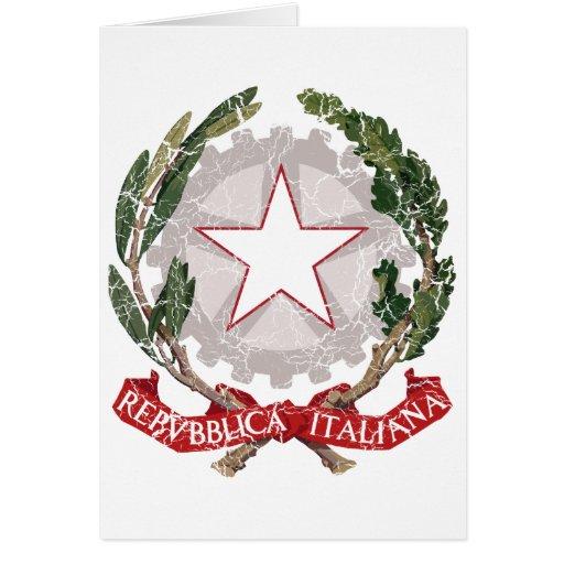 Escudo de armas de Italia Tarjetas