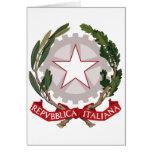 Escudo de armas de Italia Tarjeton