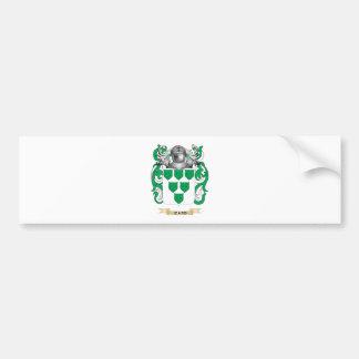Escudo de armas de Izard (escudo de la familia) Pegatina De Parachoque