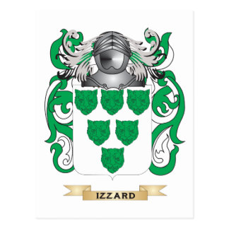 Escudo de armas de Izzard (escudo de la familia) Tarjeta Postal