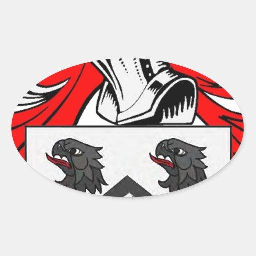 Escudo de armas de Jackson Calcomanías Ovales