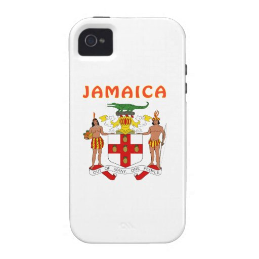 Escudo de armas de Jamaica iPhone 4 Fundas