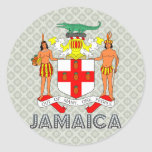 Escudo de armas de Jamaica Pegatina Redonda