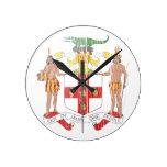 Escudo de armas de Jamaica Relojes De Pared