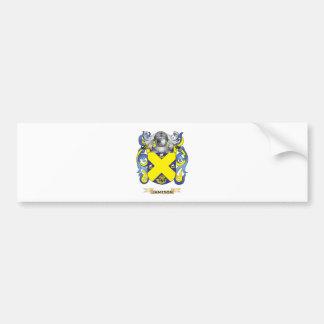 Escudo de armas de Jameson (escudo de la familia) Pegatina Para Auto