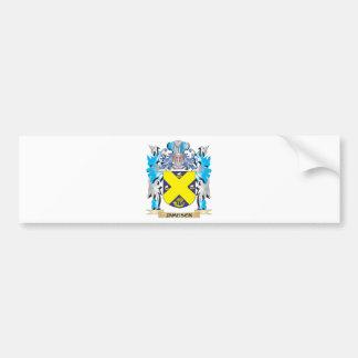 Escudo de armas de Jameson - escudo de la familia Pegatina Para Auto