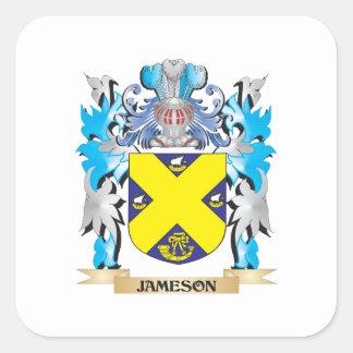 Escudo de armas de Jameson - escudo de la familia Pegatina Cuadrada