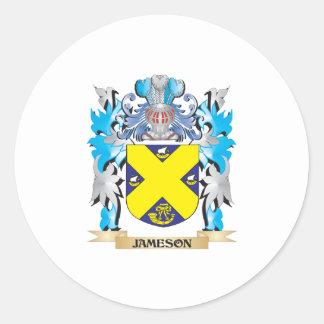 Escudo de armas de Jameson - escudo de la familia Pegatina Redonda