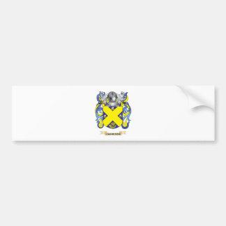 Escudo de armas de Jamieson (escudo de la familia) Pegatina Para Auto