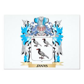 """Escudo de armas de Janas - escudo de la familia Invitación 5"""" X 7"""""""