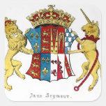 Escudo de armas de Jane Seymour Pegatina Cuadrada