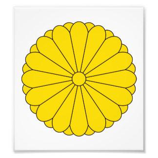 Escudo de armas de Japón Impresion Fotografica