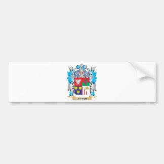 Escudo de armas de Javier - escudo de la familia Pegatina Para Auto
