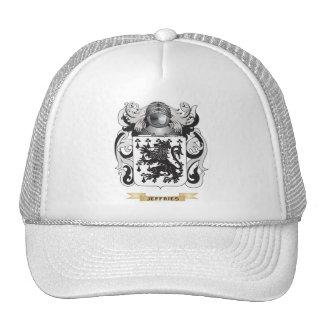 Escudo de armas de Jeffries (escudo de la familia) Gorros Bordados