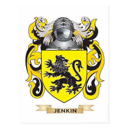 Escudo de armas de Jenkin (escudo de la familia) Postal