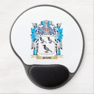 Escudo de armas de Jenne - escudo de la familia Alfombrilla De Raton Con Gel