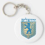Escudo de armas de Jerusalén - escudo de Oficial Llaveros Personalizados