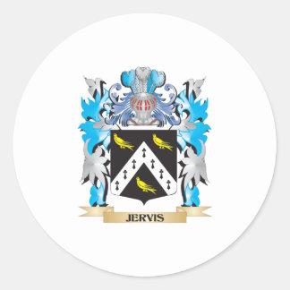 Escudo de armas de Jervis - escudo de la familia Pegatina Redonda