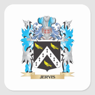Escudo de armas de Jervis - escudo de la familia Pegatina Cuadrada
