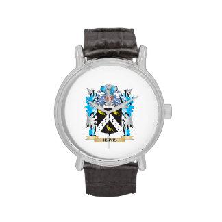Escudo de armas de Jervis - escudo de la familia Relojes