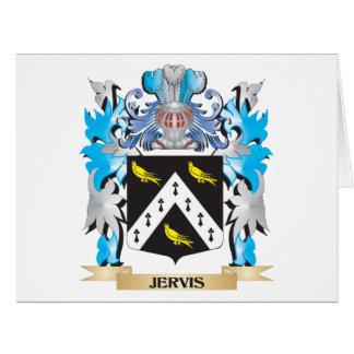 Escudo de armas de Jervis - escudo de la familia Tarjeta De Felicitación Grande