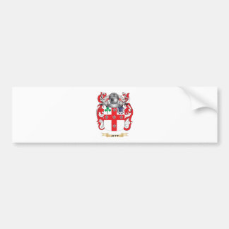 Escudo de armas de Jett (escudo de la familia) Etiqueta De Parachoque