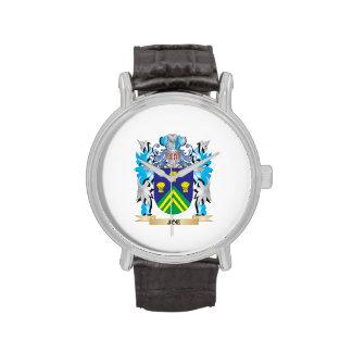 Escudo de armas de Joe - escudo de la familia Relojes De Mano