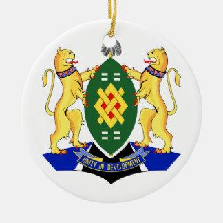 Escudo de armas de Johannesburg Adorno Navideño Redondo De Cerámica