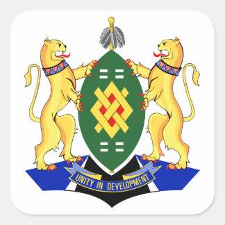 Escudo de armas de Johannesburg Pegatina Cuadrada