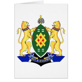Escudo de armas de Johannesburg Tarjeta De Felicitación
