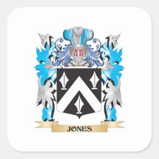 Escudo de armas de Jones - escudo de la familia Colcomanias Cuadradas