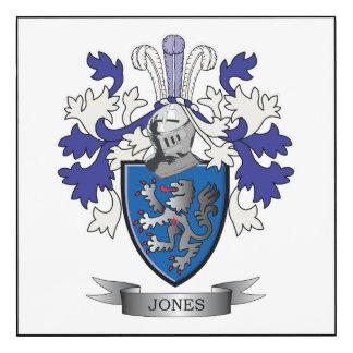Escudo de armas de Jones Impresión En Madera