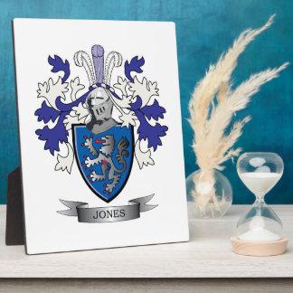 Escudo de armas de Jones Placas Con Foto