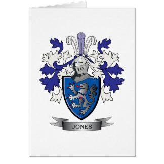Escudo de armas de Jones Tarjeta De Felicitación