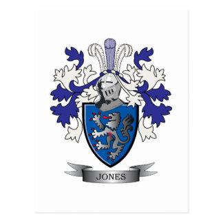 Escudo de armas de Jones Tarjeta Postal