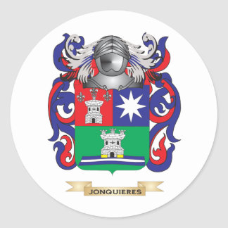 Escudo de armas de Jonsen (escudo de la familia) Etiqueta Redonda
