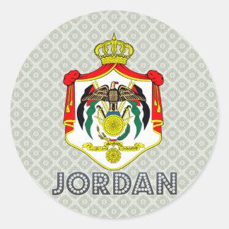 Escudo de armas de Jordania Pegatina Redonda