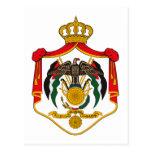 Escudo de armas de Jordania Tarjetas Postales